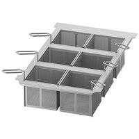 Rational 60.75.305 Perforated Six Portion Baskets with Frame for iVario 2-S Tilt Skillets