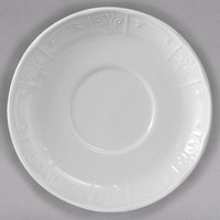 Tuxton CHE-044 Chicago 4 1/2 inch Bright White China Demitasse Saucer - 36/Case