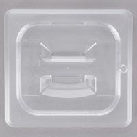 Cambro 60CWCH135 Camwear 1/6 Size Clear Polycarbonate Handled Lid