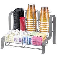 Cal-Mil 1594-74 Silver Soho Condiment Organizer - 15 3/4 inch x 11 3/4 inch x 12 inch