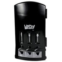 WeGo 56102200 Black Triple Utensil Cutlery Dispenser