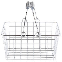 American Metalcraft RBHC759 Chrome Tabletop Market Basket - 9 inch x 7 inch x 5 inch