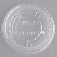 Solo PL100N Small Clear Plastic Souffle / Cup Lid - 125/Pack