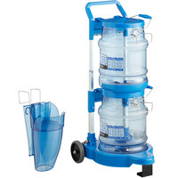San Jamar Shorty Saf-T-Ice 5 Gallon Polycarbonate Ice Tote Kit with Cart