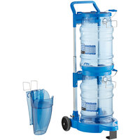 San Jamar Saf-T-Ice 6 Gallon Polycarbonate Ice Tote Kit with Cart