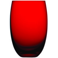 Nude 12925RD-024 Colored O 13.5 oz. Red Water Glass - 24/Case