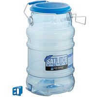 San Jamar Saf-T-Ice 6 Gallon Polycarbonate Ice Tote with Lid and Hanging Bracket