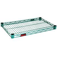 Eagle Group 1424E Eaglegard® NSF Hybrid Zinc / Green Epoxy 14 inch x 24 inch Wire Shelf