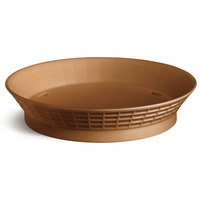 Tablecraft 15759TC 9 inch Terra Cotta Plastic Diner Platter / Fast Food Basket with Base - 12/Pack
