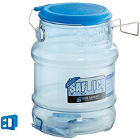 San Jamar Shorty Saf-T-Ice 5 Gallon Polycarbonate Ice Tote with Lid and Hanging Bracket
