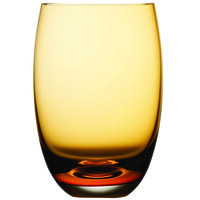Nude 12925AM-024 Colored O 13.5 oz. Amber Water Glass - 24/Case
