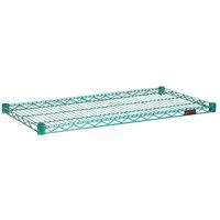Eagle Group 1436E Eaglegard® NSF Hybrid Zinc / Green Epoxy 14 inch x 36 inch Wire Shelf