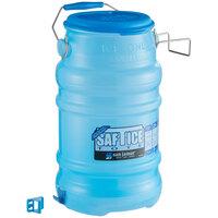 San Jamar Saf-T-Ice 6 Gallon Polypropylene Ice Tote with Lid and Hanging Bracket