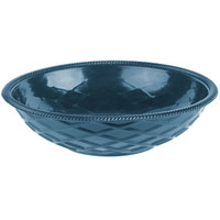 HS Inc. HS1018 9 inch x 2 1/4 inch Blueberry Polyethylene Round Weave Basket - 24/Case