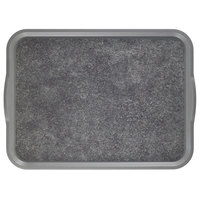 Cambro 1520VCRST381 20 inch x 15 inch Pearl Gray Customizable Non-Skid Room Service Camtray - 12/Case