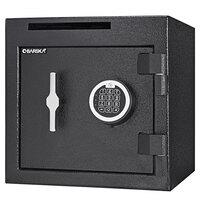 Barska AX13314 14 inch x 14 inch x 14 inch Black Steel Compact Check Slot Depository Safe with Digital Keypad and Key Lock - 1.12 Cu. Ft.