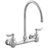 Waterloo FW88G Wall-Mounted Faucet with 8 inch Centers and 8 inch Swivel Gooseneck Spout