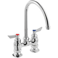 Waterloo FD48G Deck-Mounted Faucet with 4 inch Centers and 8 inch Swivel Gooseneck Spout