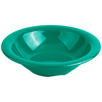 "Carlisle 3303609 Sierrus 12 oz. 7 1/4"" Meadow Green Rimmed Melamine Bowl - 24/Case"
