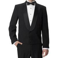 Henry Segal Men's Customizable Black Satin Shawl Lapel Eton Jacket - 58