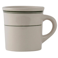 Tuxton TGB-038 Green Bay 9 oz. China Canton Mug / Cup - 36/Case