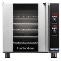 Moffat E32D5-2P Turbofan Single Deck Full Size Electric Convection Oven with Digital Controls - 208V, 1 Phase, 5.8 kW