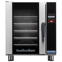 Moffat E33T5-T Turbofan Single Deck Half Size Electric Convection Oven with Touch Screen Controls - 220-240V, 1 Phase, 6 kW