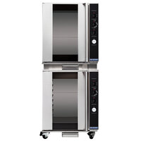 Moffat USP8M/2 Turbofan Double Deck Full Size 8 Tray Electric Holding Cabinet / Proofer with Mechanical Controls and Compact 28 7/8 inch Width - 110-120V