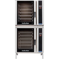 Moffat E35T6-26/2 Turbofan Double Deck Full Size Electric Convection Oven with Touch Screen Controls and Stainless Steel Base - 208V, 3 Phase, 22.4 kW