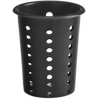 Choice Black Perforated Plastic Flatware Holder Cylinder