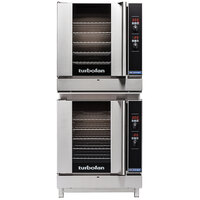 Moffat G32D5/2 Turbofan Double Deck Full Size Natural Gas Convection Oven with Digital Controls and Stand - 110-120V, 1 Phase, 66,000 BTU