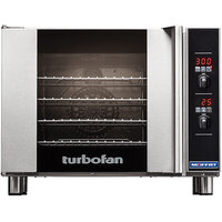 Moffat USE31D4-T Turbofan Single Deck Half Size Electric Convection Oven / Broiler with Digital Controls - 220-240V, 1 Phase, 3.1 kW