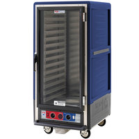 Metro C537-CFC-L-BU C5 3 Series Heated Holding and Proofing Cabinet with Clear Door - Blue