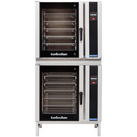Moffat E35T6-26/2 Turbofan Double Deck Full Size Electric Convection Oven with Touch Screen Controls and Stainless Steel Base - 208V, 1 Phase, 22.4 kW