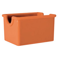 GET SC-66-RO Diamond Mardi Gras 3 1/2 inch x 2 1/2 inch Rio Orange SAN Plastic Sugar Caddy - 24/Case