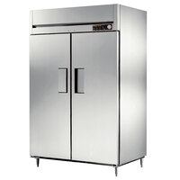 True STR2H-2S Specification Series Solid Door Two Section Reach In Heated Holding Cabinet