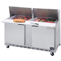 Beverage Air SPE60HC-18M 60 inch 2 Door Mega Top Refrigerated Sandwich Prep Table