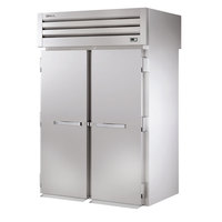True STA2RRT89-2S-2S 88 3/4 inch Specification Series Roll Through Refrigerator with Two Front Solid Doors and Two Rear Solid Doors - 80 Cu. Ft.