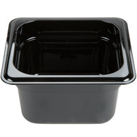 Carlisle 3088403 StorPlus 1/6 Size Black High Heat Food Pan - 4 inch Deep