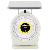 Rubbermaid FG810BW Pelouze 10 lb. / 4.5 kg. Portion Scale - 9 inch x 9 inch Platform