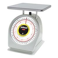 Rubbermaid Pelouze 810BW 10 lb. / 4.5 kg Portion Scale - 9 inch x 9 inch Platform (FG810BW)