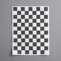 Choice 9 inch x 12 inch Black Check Basket Liner / Deli Sandwich Wrap Paper - 5000/Case