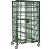 Metro SEC56EK3 Metroseal 3 Mobile Standard Duty Wire Security Cabinet with Casters (Two Locking) 65 inch x 27 1/4 inch x 68 1/2 inch