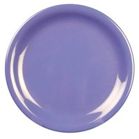 10 1/2 inch Purple Narrow Rim Melamine Plate 12 / Pack