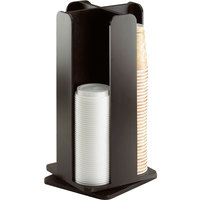 Cal-Mil 378-96 Midnight Bamboo Revolving Lid / Cup Organizer - 8 1/4 inch x 8 1/4 inch x 18 inch