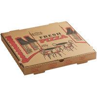 Choice 16 inch x 16 inch x 2 inch Kraft Corrugated Pizza Box Bulk Pack - 100/Case