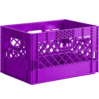 Violet 24 Qt. Customizable Rectangular Milk Crate - 18 3/4 inch x 13 inch x 11 inch