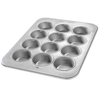Chicago Metallic 43645 12 Cup Glazed Oversized Large Muffin Pan - 12 7/8 inch x 17 7/8 inch