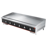 Vollrath 972GGT Cayenne 72 inch Heavy Duty Countertop Griddle with Thermostatic Controls - 180,000 BTU