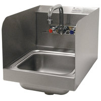 Advance Tabco 7-PS-56 Space Saving Hand Sink with Side Splash Guards - 12 inch x 16 inch